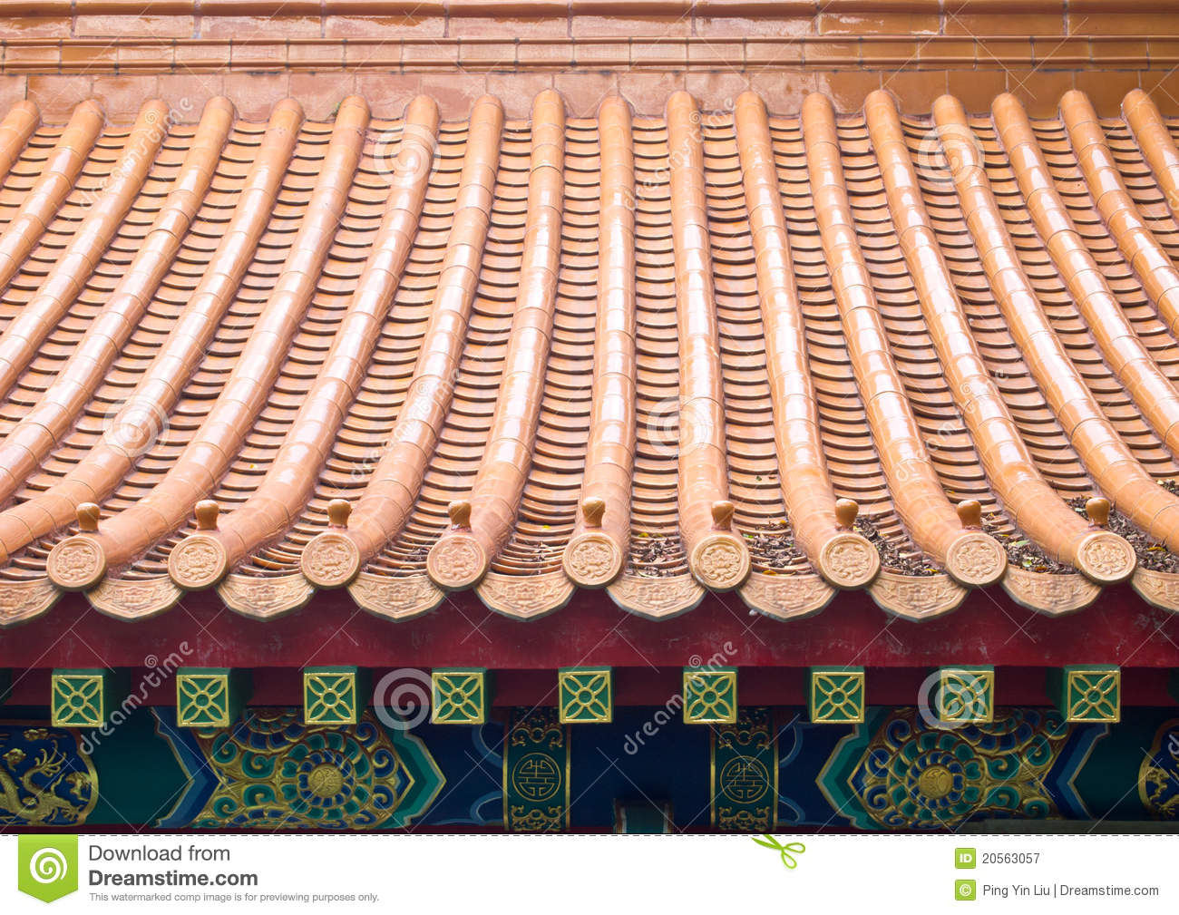 Chinese Roof Tiles stock image. Image of architectural ...