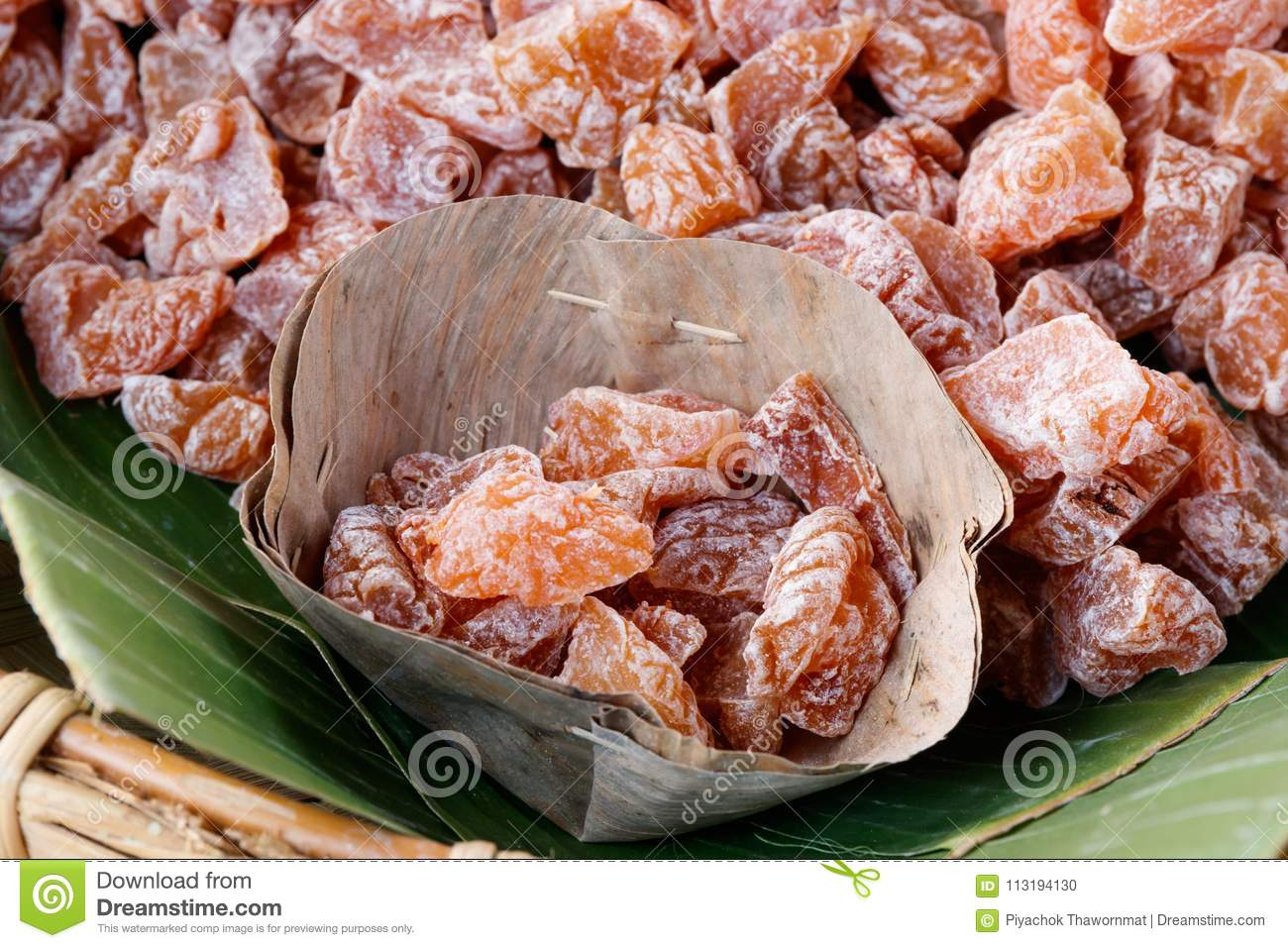Chinese salty dried plum. stock photo. Image of dried