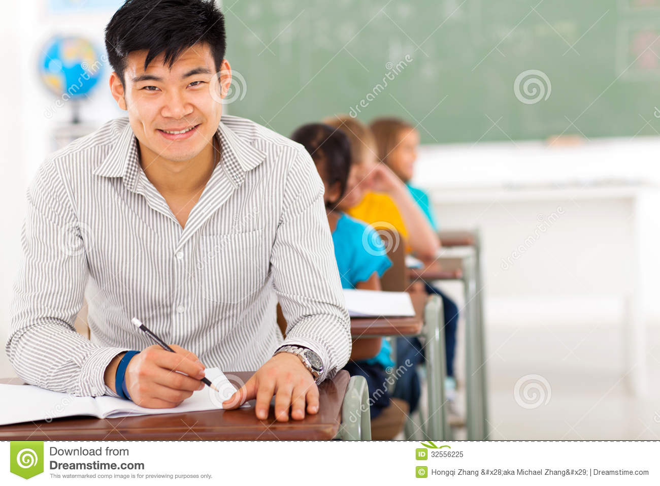 chinese school teacher royalty free stock photo