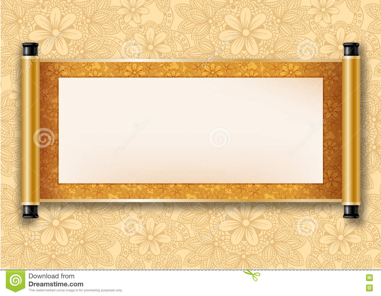 Chinese Scroll Stock Vector - Image: 71134557