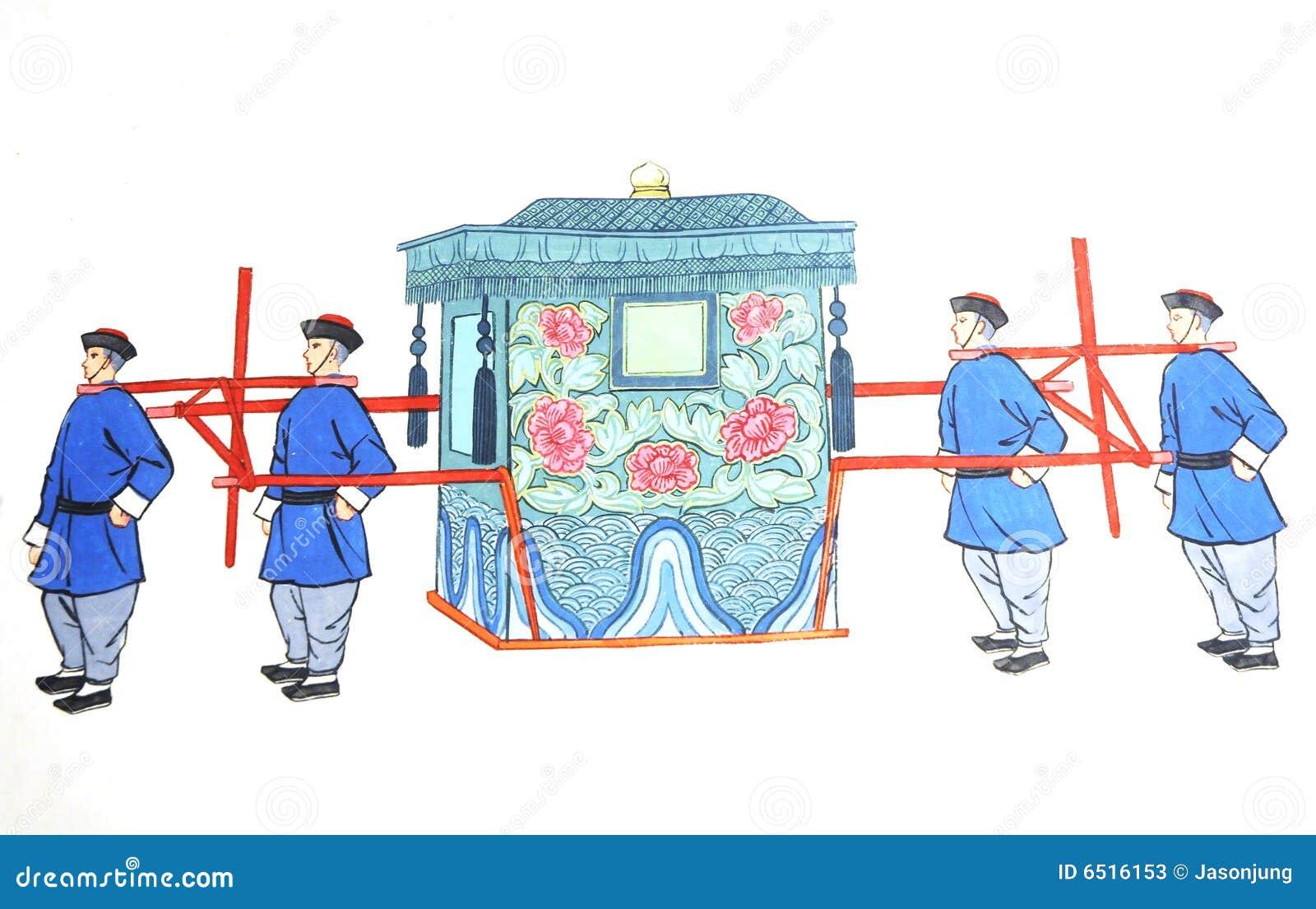 Chinese Sedan Chair For Bride Stock Image Image Of Folk Opera 6516153