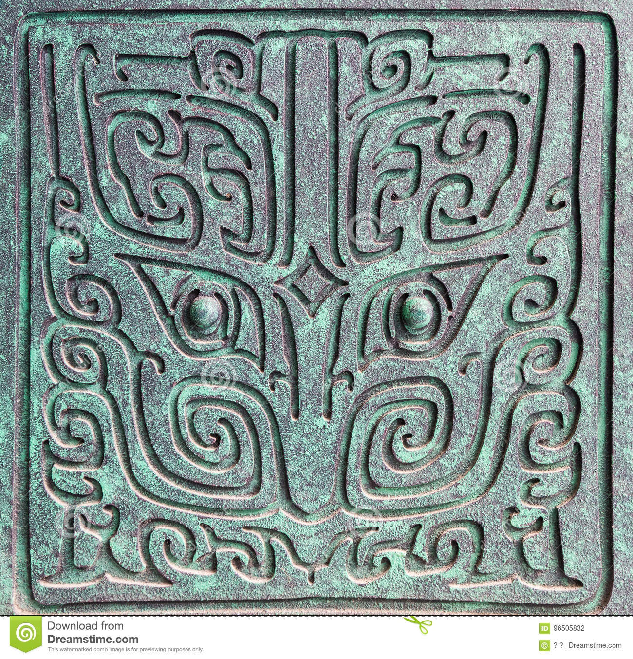 Chinese shang dynasty bronze ware decoration patterns