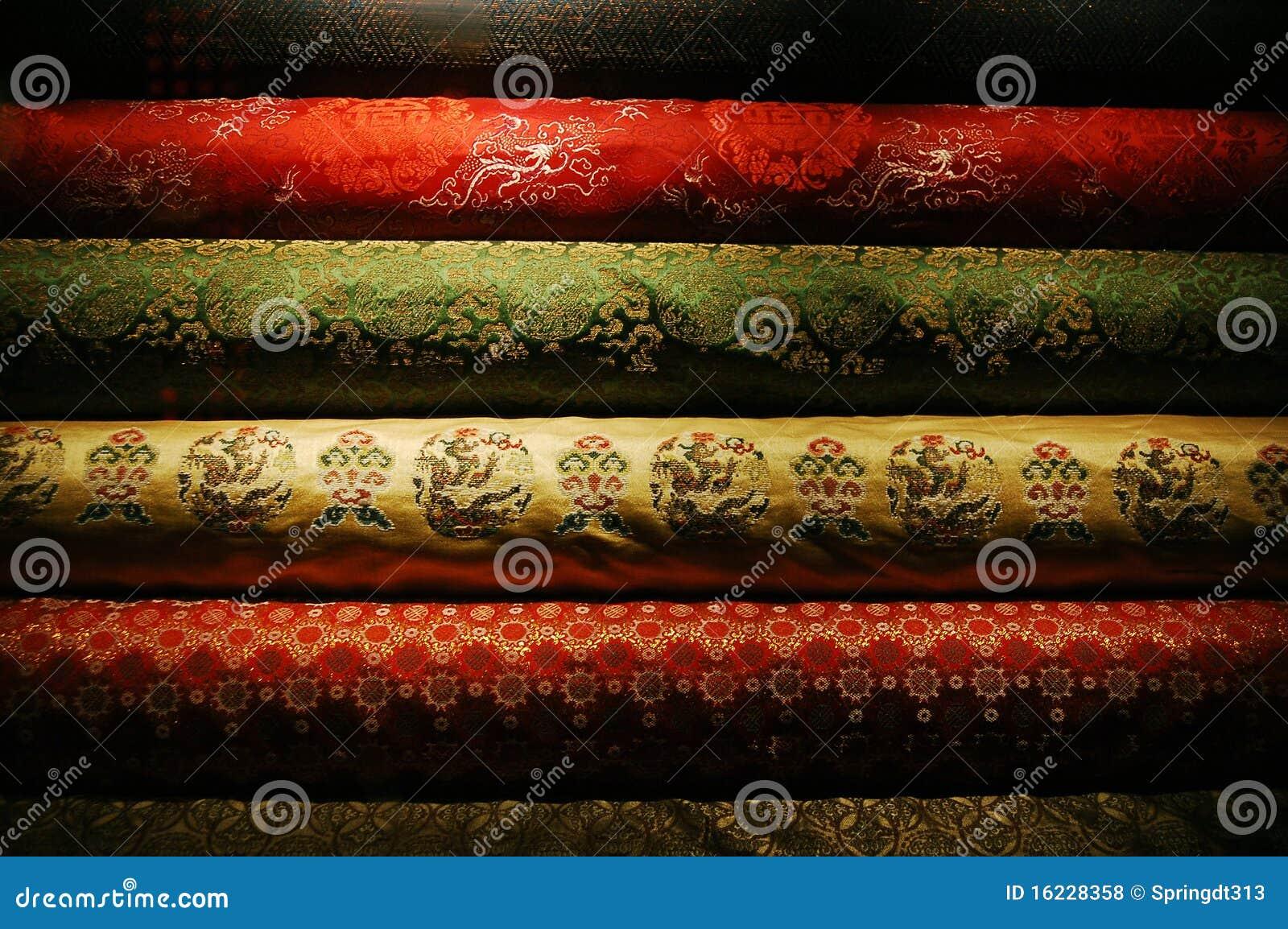 chinese silk stock photo  image of decor  ornate  ethnicity