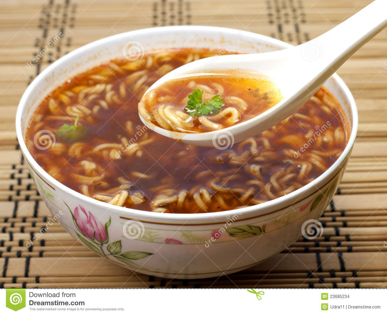 Traditional Chinese Food With Noodle Soup