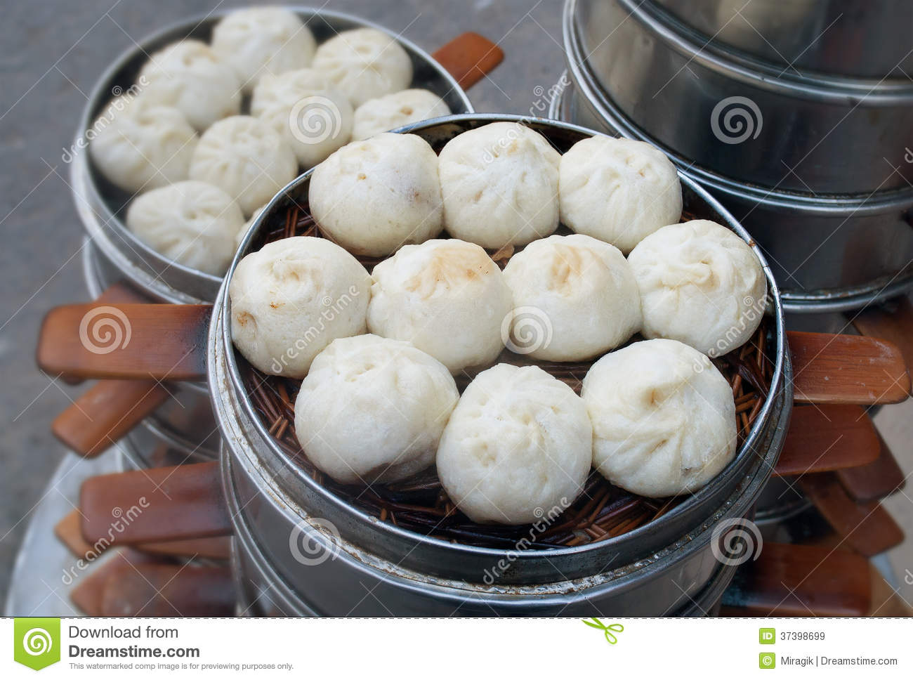 Chinese Steamed Baozi Royalty Free Stock Images Image