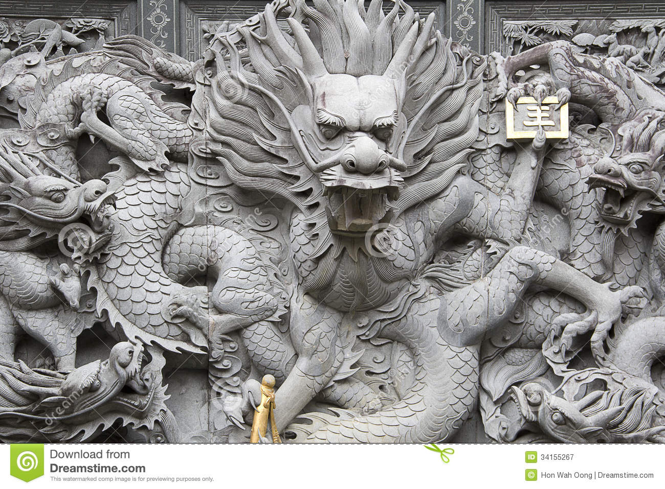 Chinese stone carving stock image of granite