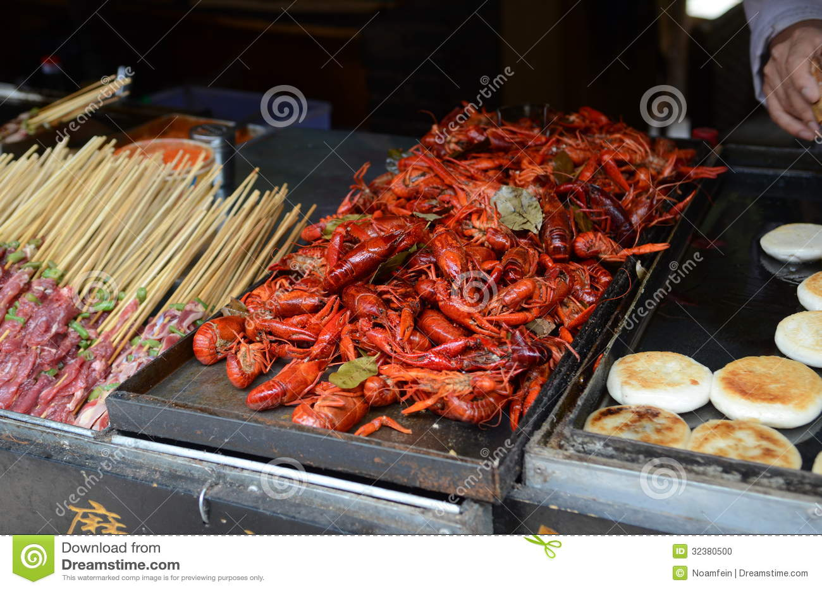 Chinese street food stands in lijiang yunnan china