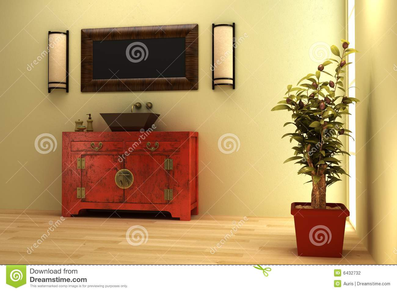 Asian style bathrooms - Chinese Style Bathroom Interior Stock Photography