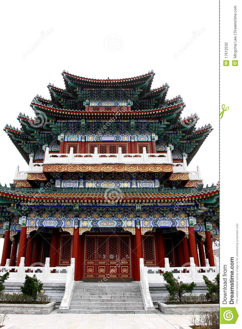 Chinese Style Building Stock Photo Image Of Yellow