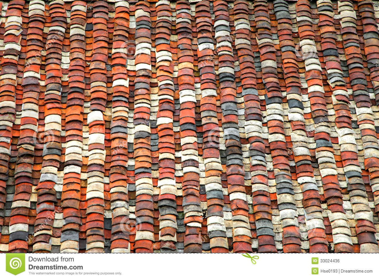 Chinese Style Colorful Roof Tiles Stock Photo Image Of