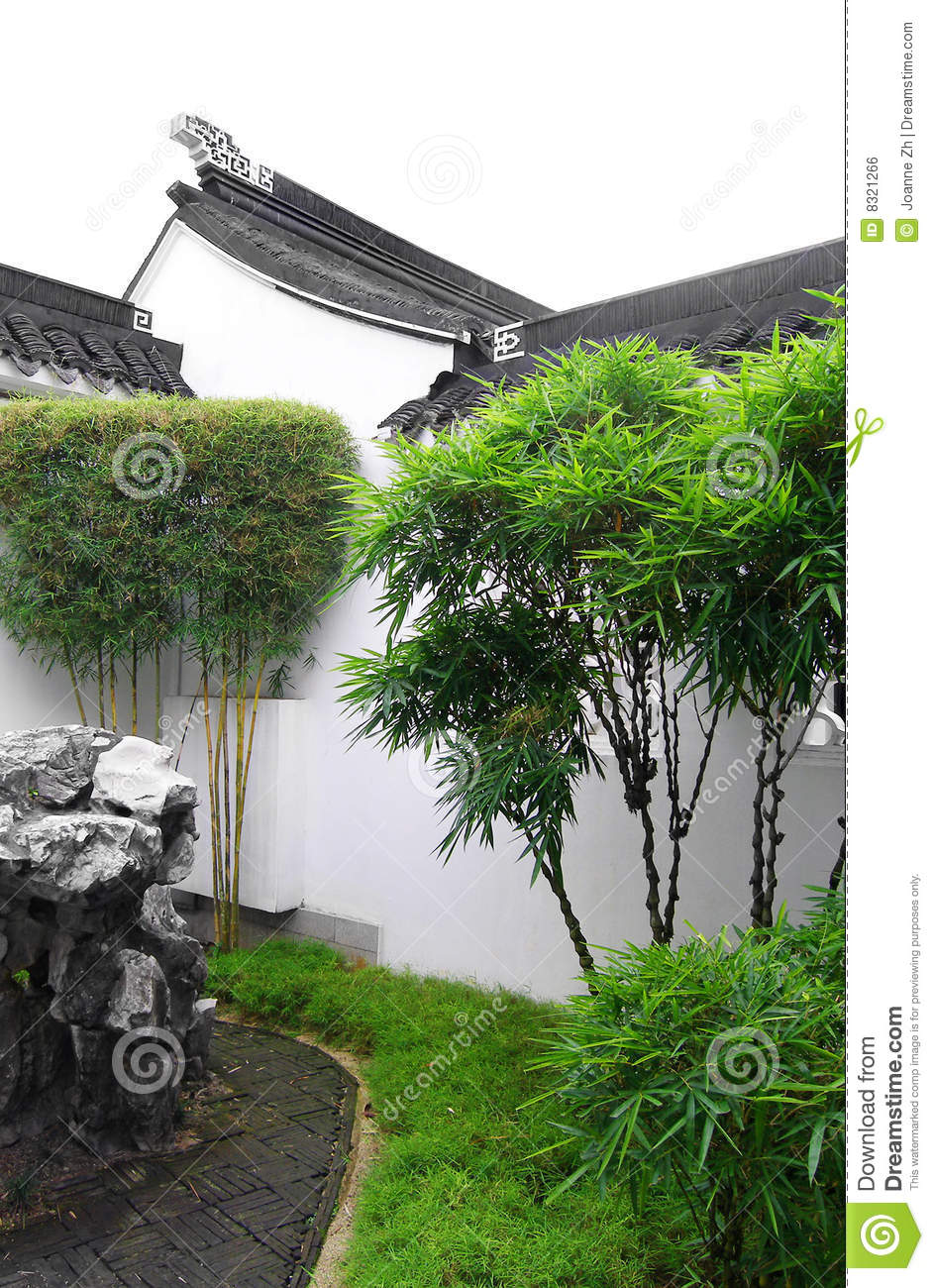 Chinese Garden  Court Yard Style Royalty Free Stock Image