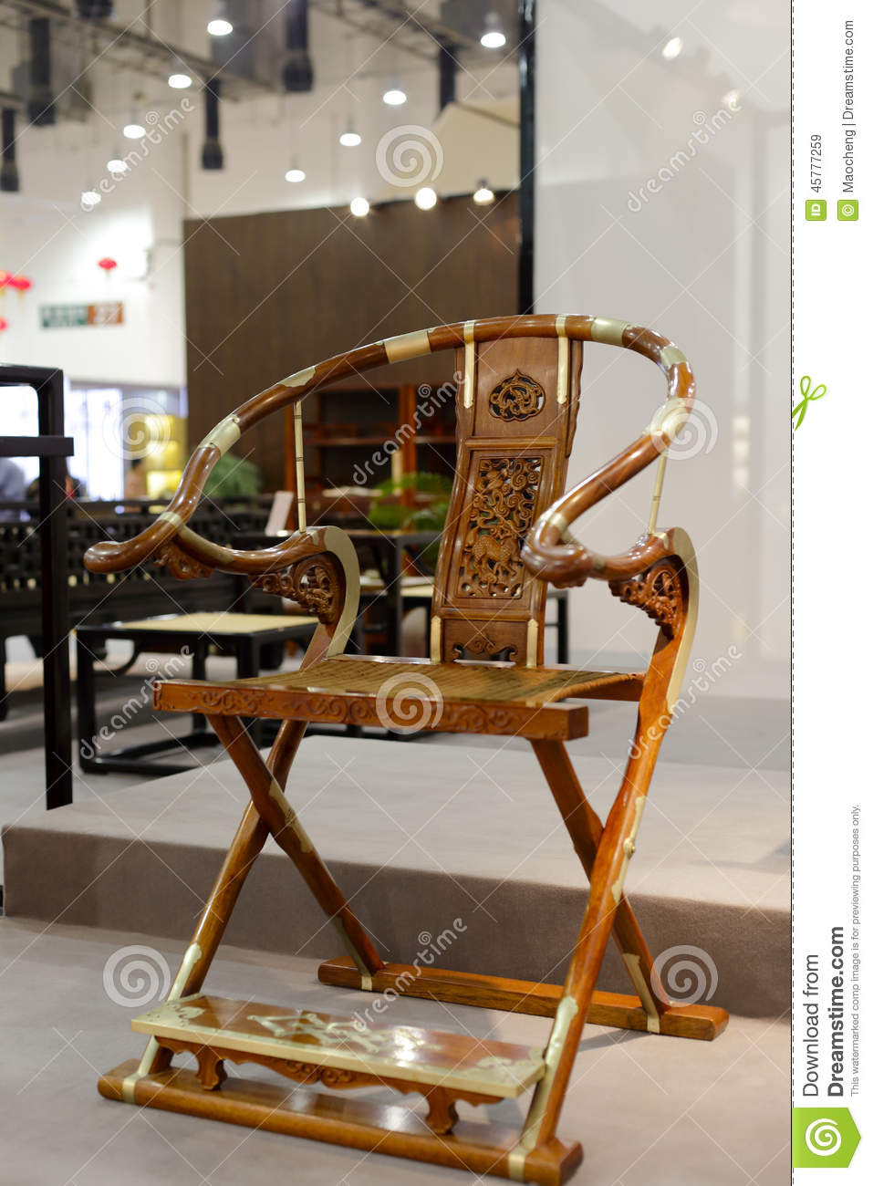 Chinese Style Folding Chair Stock Image Image Of China