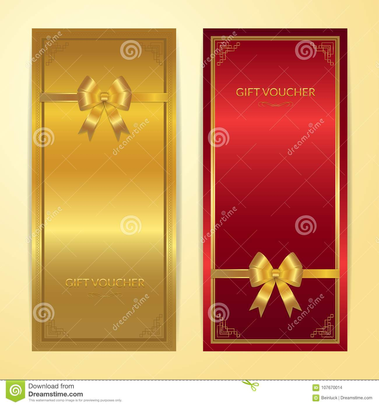 Chinese style gift certificate, voucher, gift card or cash coupo