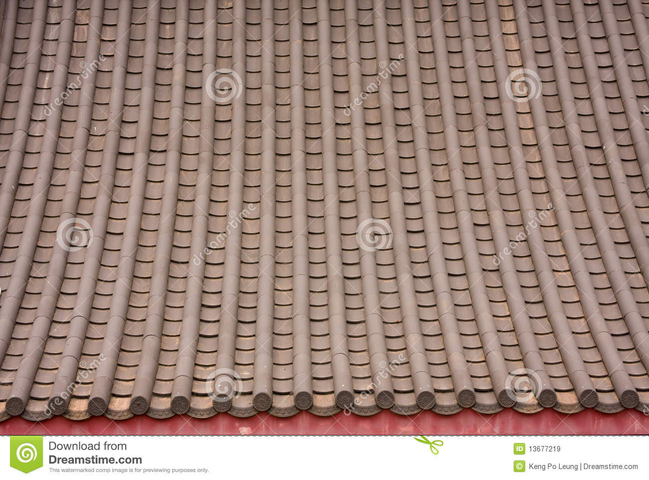 Chinese Style Roof Tiles Stock Image Image Of Mosaic