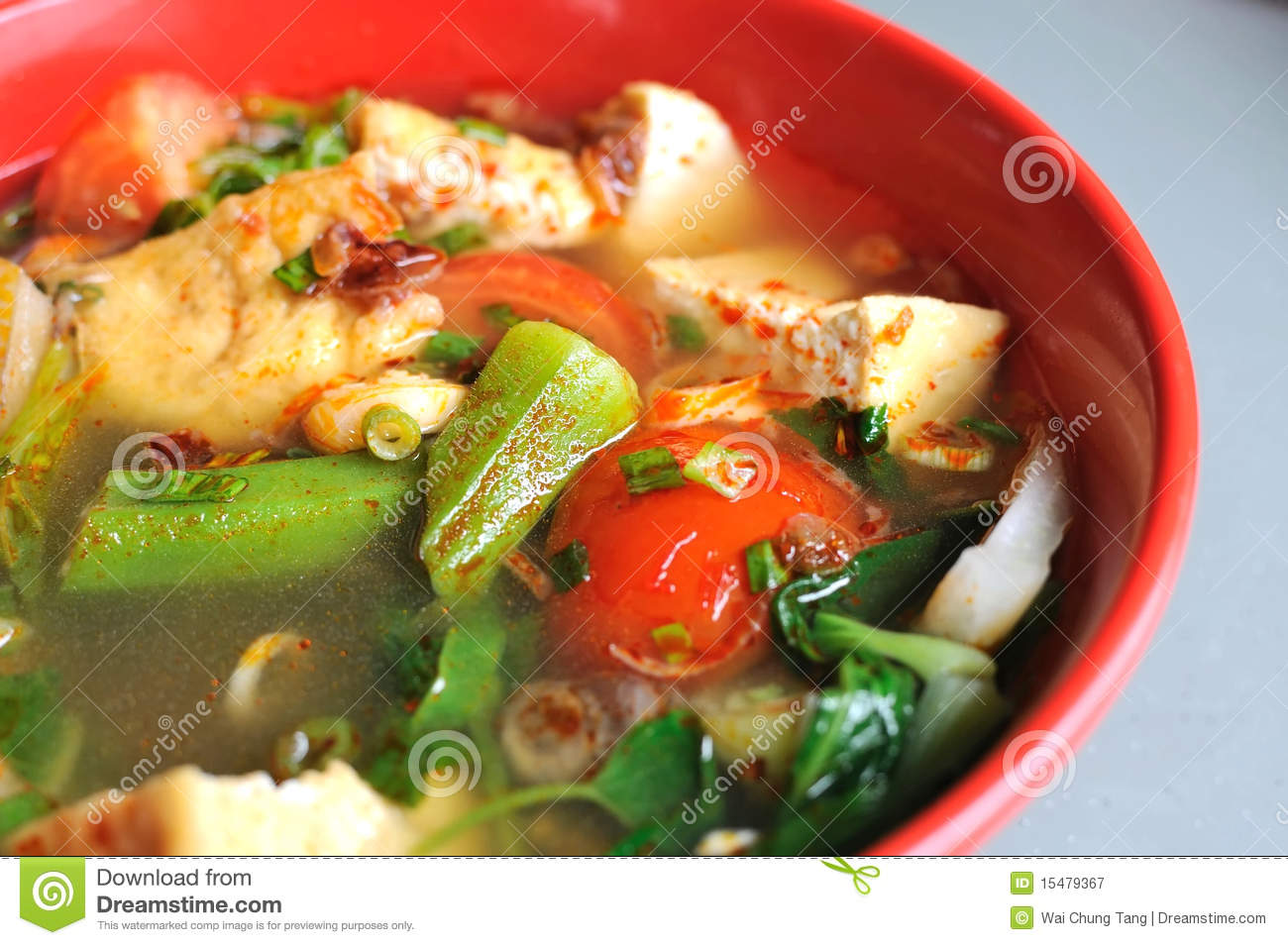 Calories in spicy asian vegetable soup speaking, did
