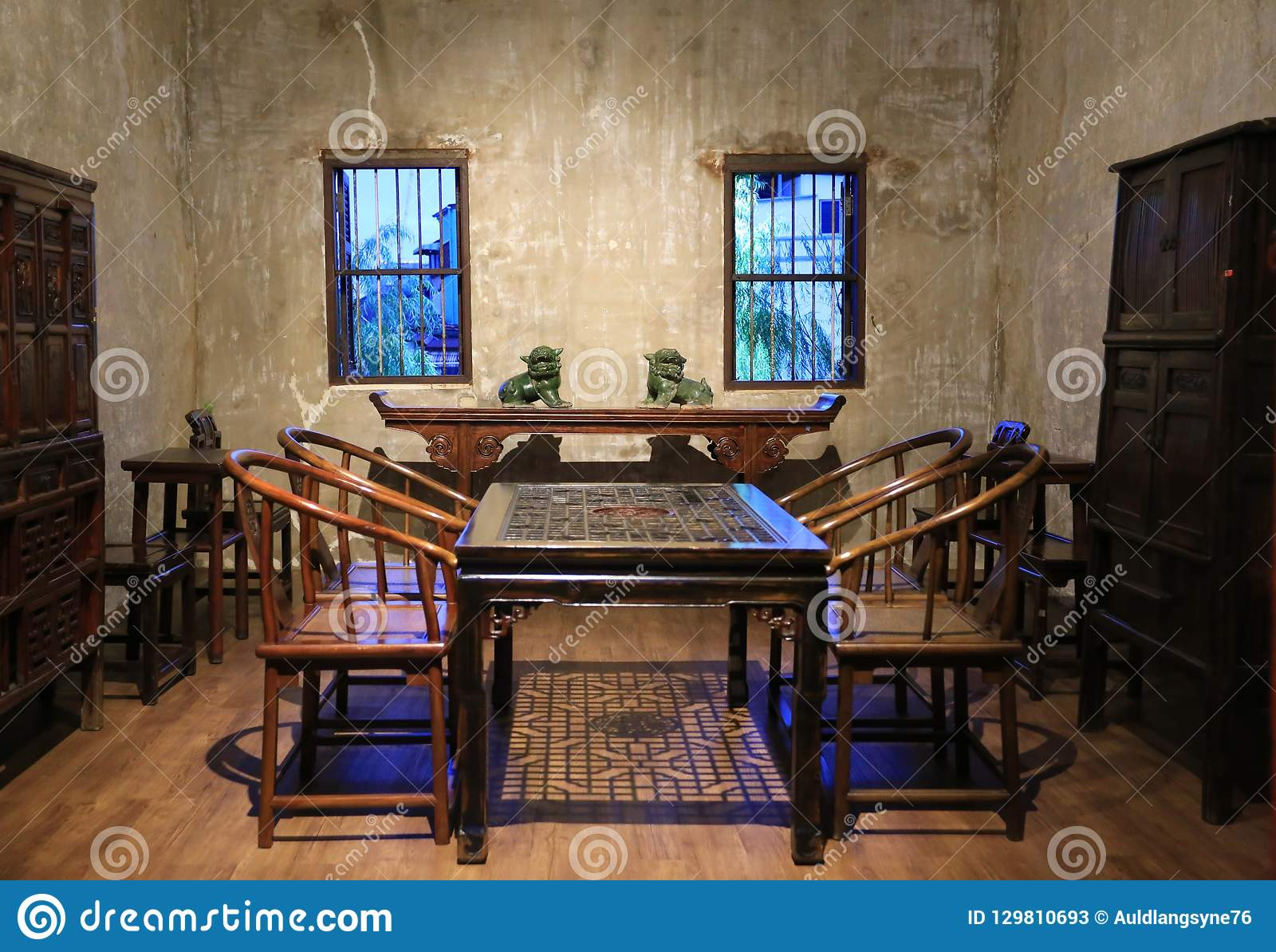 Asian dining room beautiful pictures photos Contemporary Ancient Antique Architecture Art Asia Asian Background Bangkok Beautiful Chairs Chinese Culture Decoration Design Dining Display Festive Adverts Chinese Style Vintage Wooden Dining Room Display Show In Lhong 1919