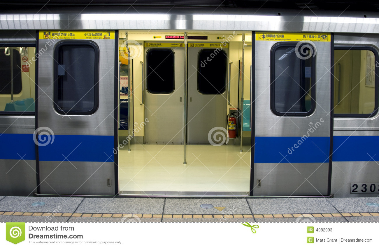 Chinese Subway Train Stock Photos & Subway Doors Open stock image. Image of carriage interior - 41187243