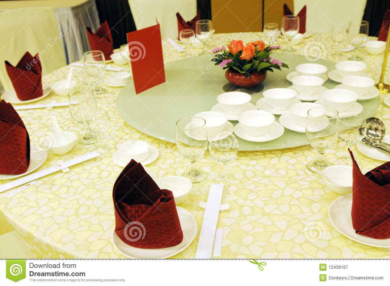 Chinese table setting. Table setting in a luxury restaurant Royalty Free Stock Photography & Chinese Table Setting Stock Photos - 2391 Images
