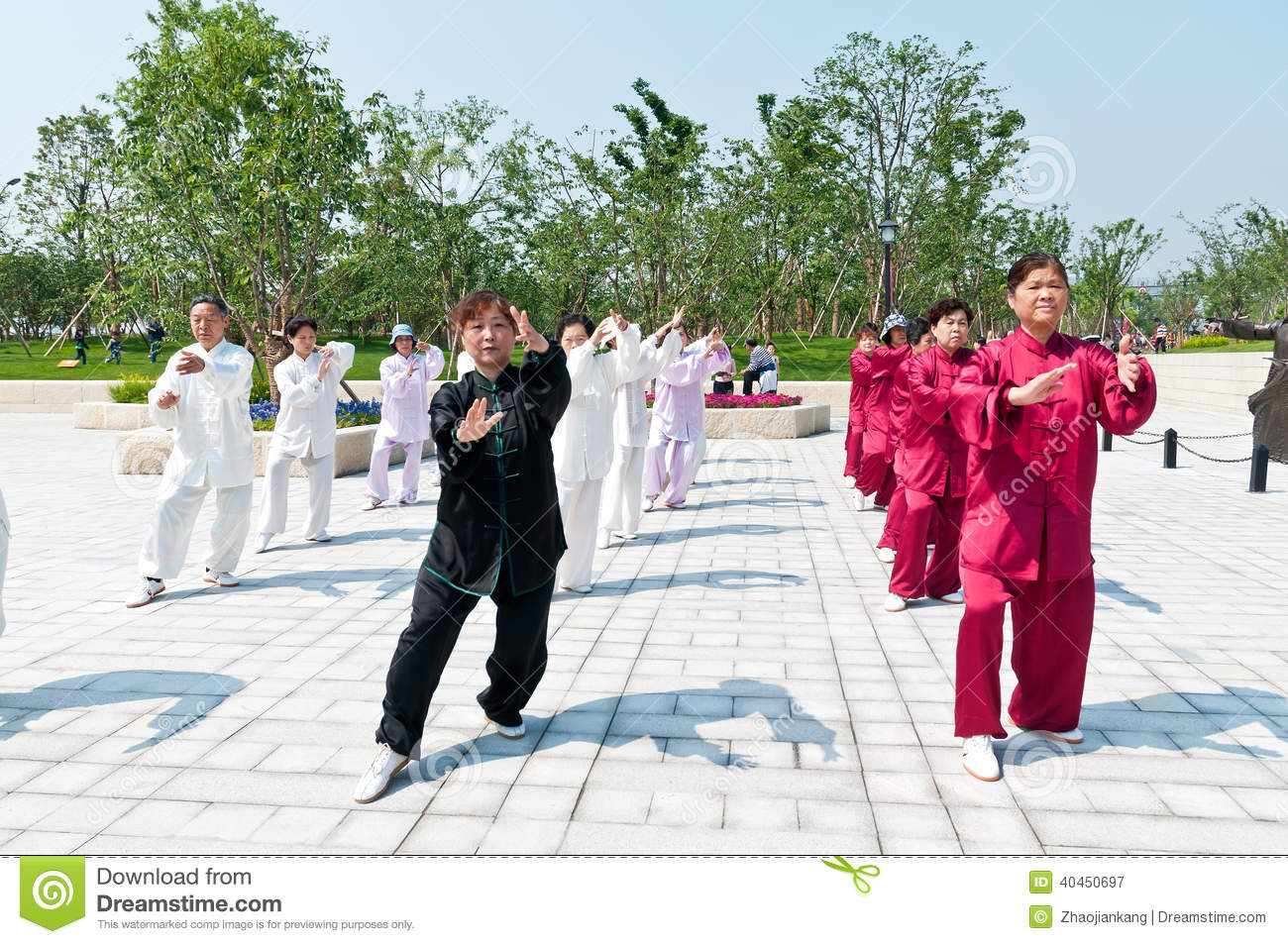chinese tai chi editorial photography. image of figure - 40450697