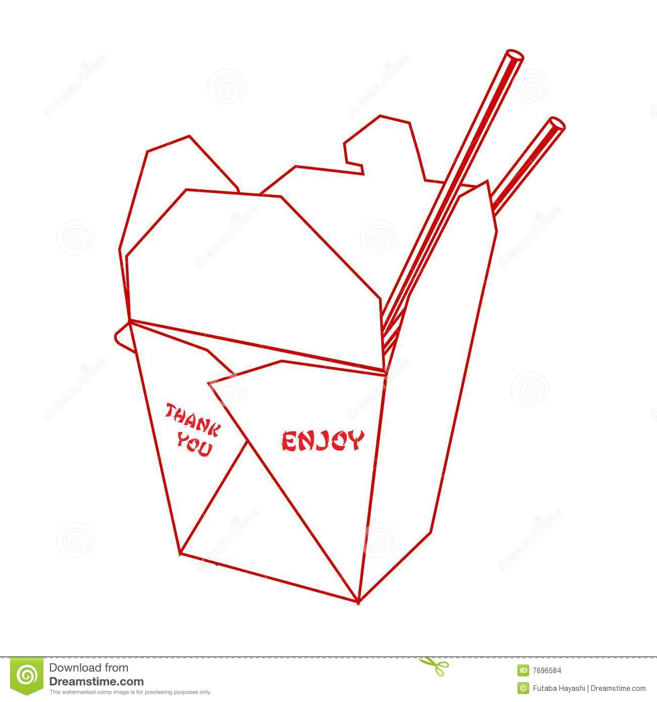 Chinese Take Out Box Template | Chinese Takeout Box Stock Vector Illustration Of Paper 7696584