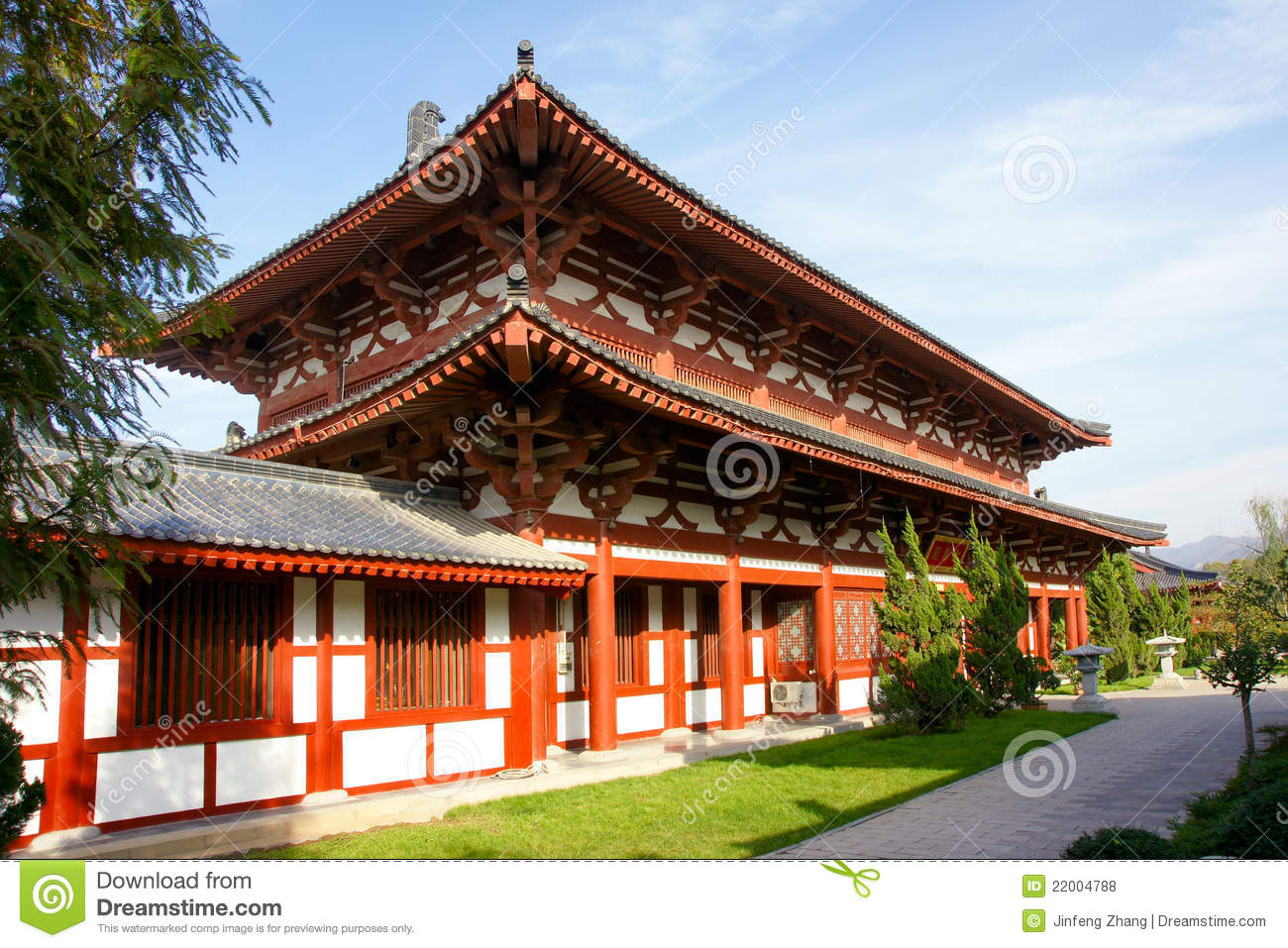 Chinese Tang Dynasty Architecture Royalty Free Stock