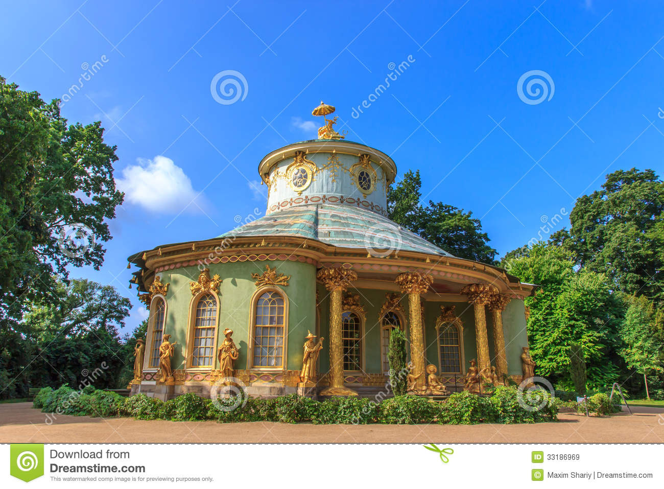 the chinese tea house in the park ensemble of sanssouci potsdam germany stock image image. Black Bedroom Furniture Sets. Home Design Ideas