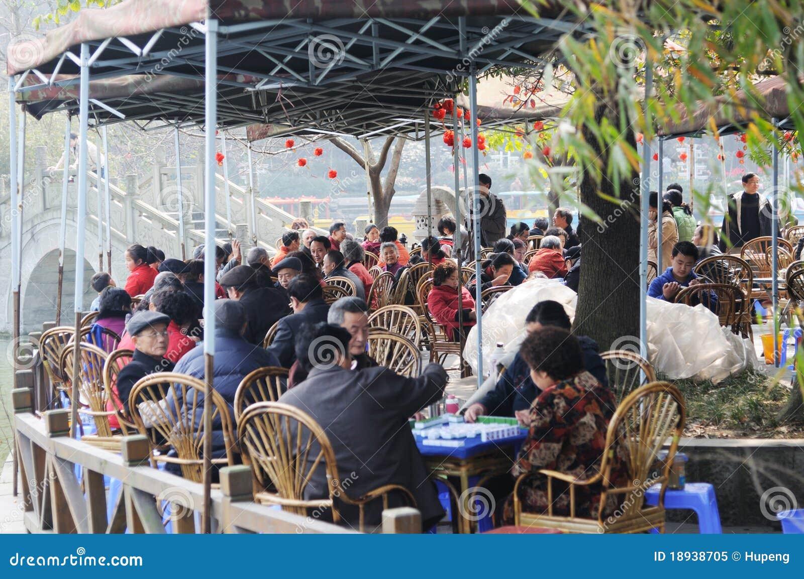 Chinese tea house on soundays