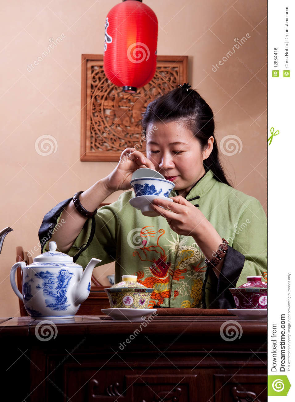 Think, that asian lady image on china teacup and shame!