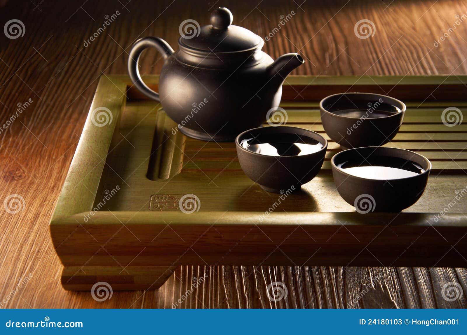 Chinese Tea Set Stock Image Image Of Pottery Service