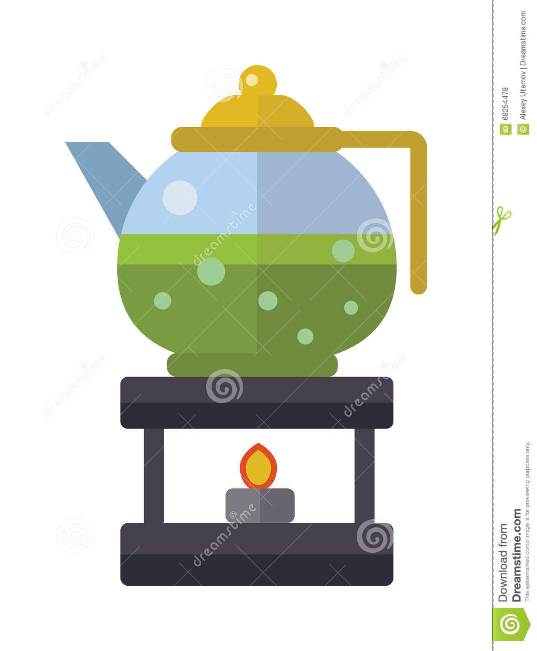 Chinese Tea Vector Symbols. Traditional Eastern Teapot And ...