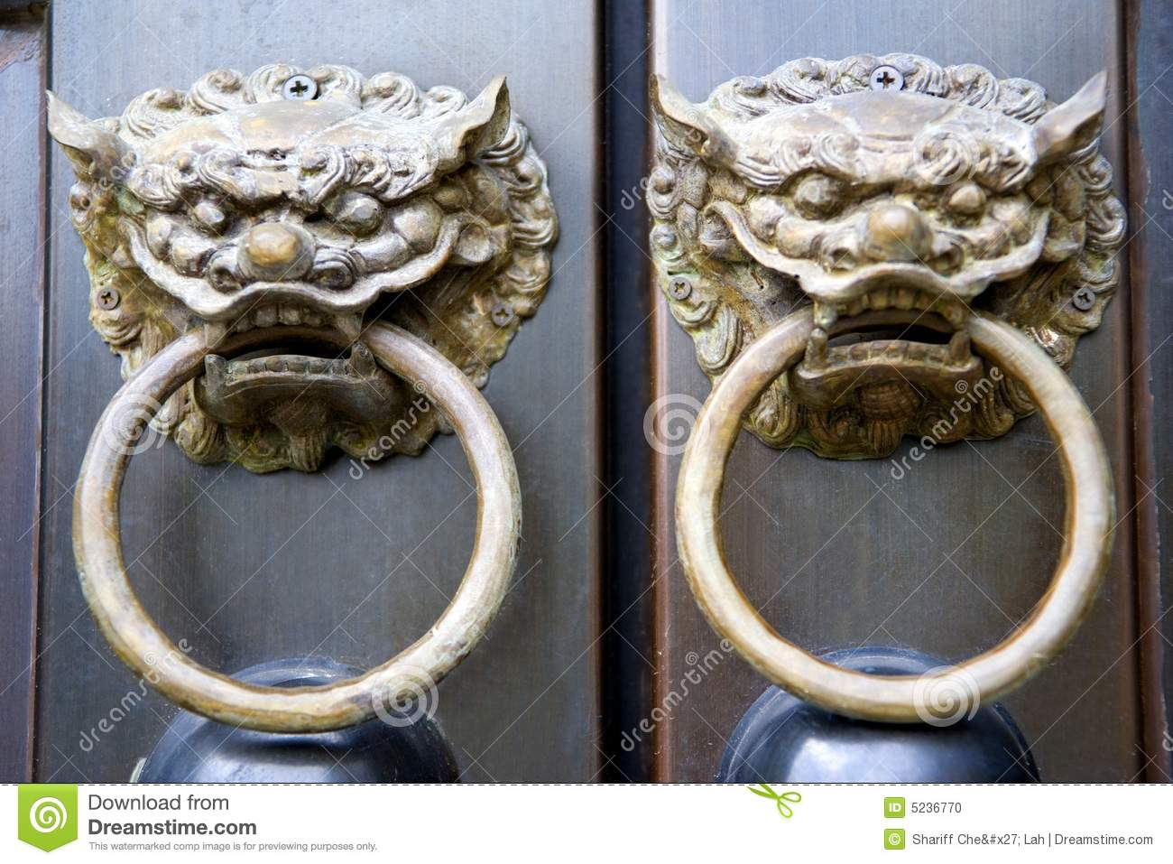 Chinese Temple Door Knobs Stock Photo Image Of Decorate