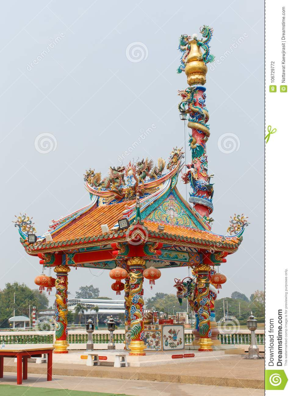 Chinese Temple Incense Detail Art Stock Photo Image Of China Religion 106729772