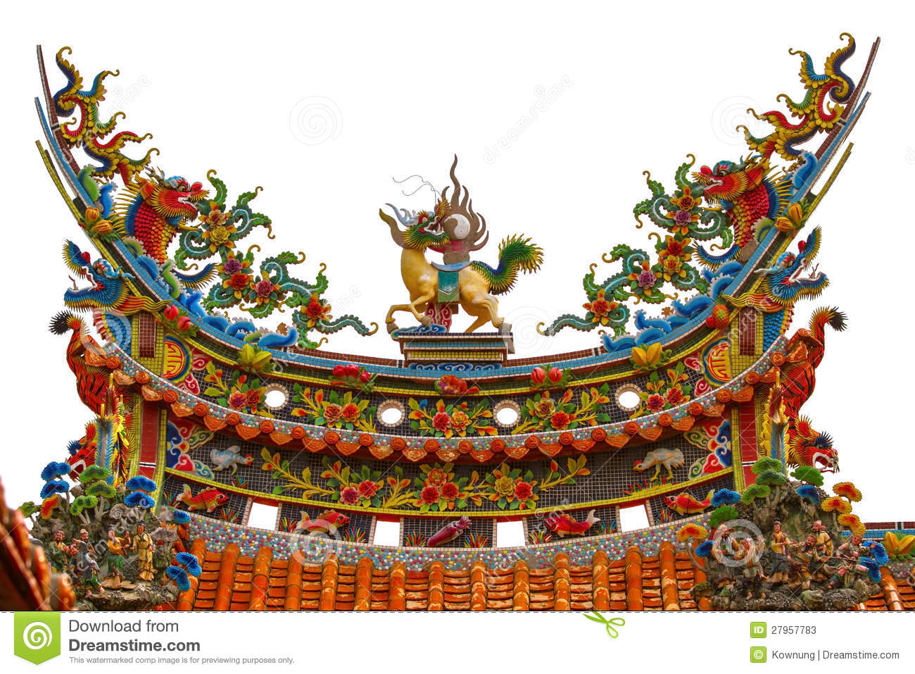 Chinese Temple Roof Stock Image Image Of Design