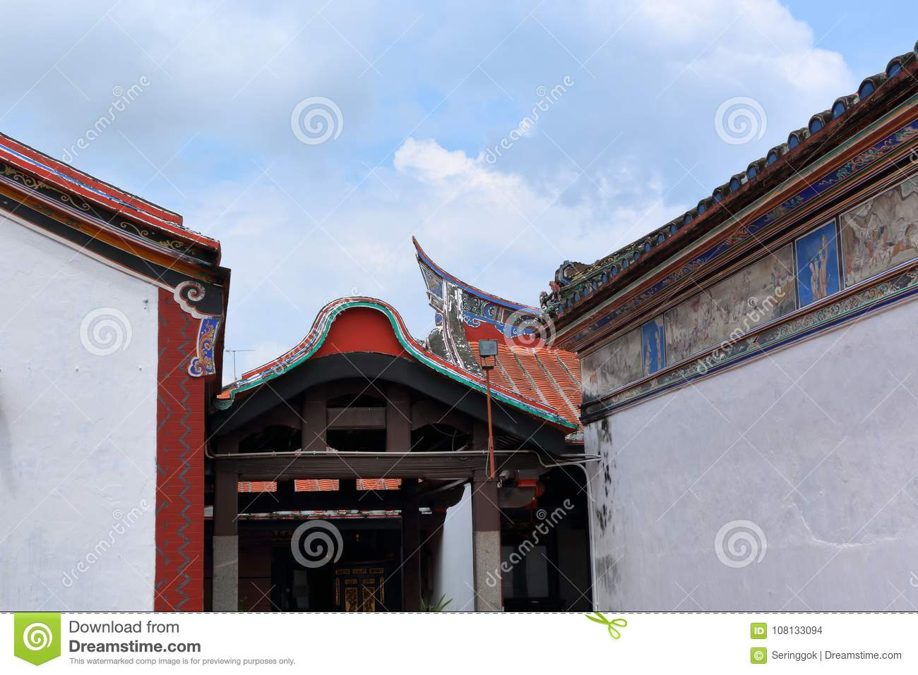 Chinese temple roof design