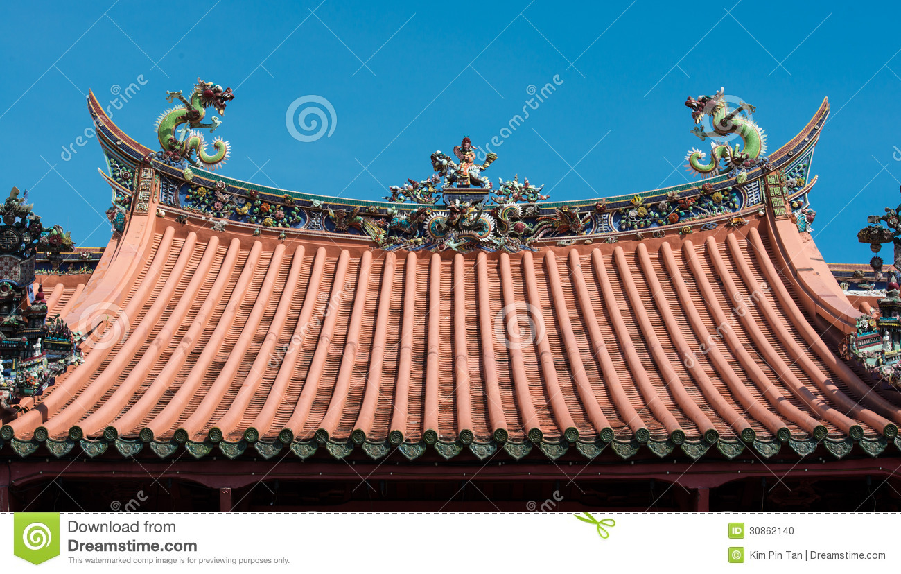 Chinese temple roof stock photo. Image of colorful ...