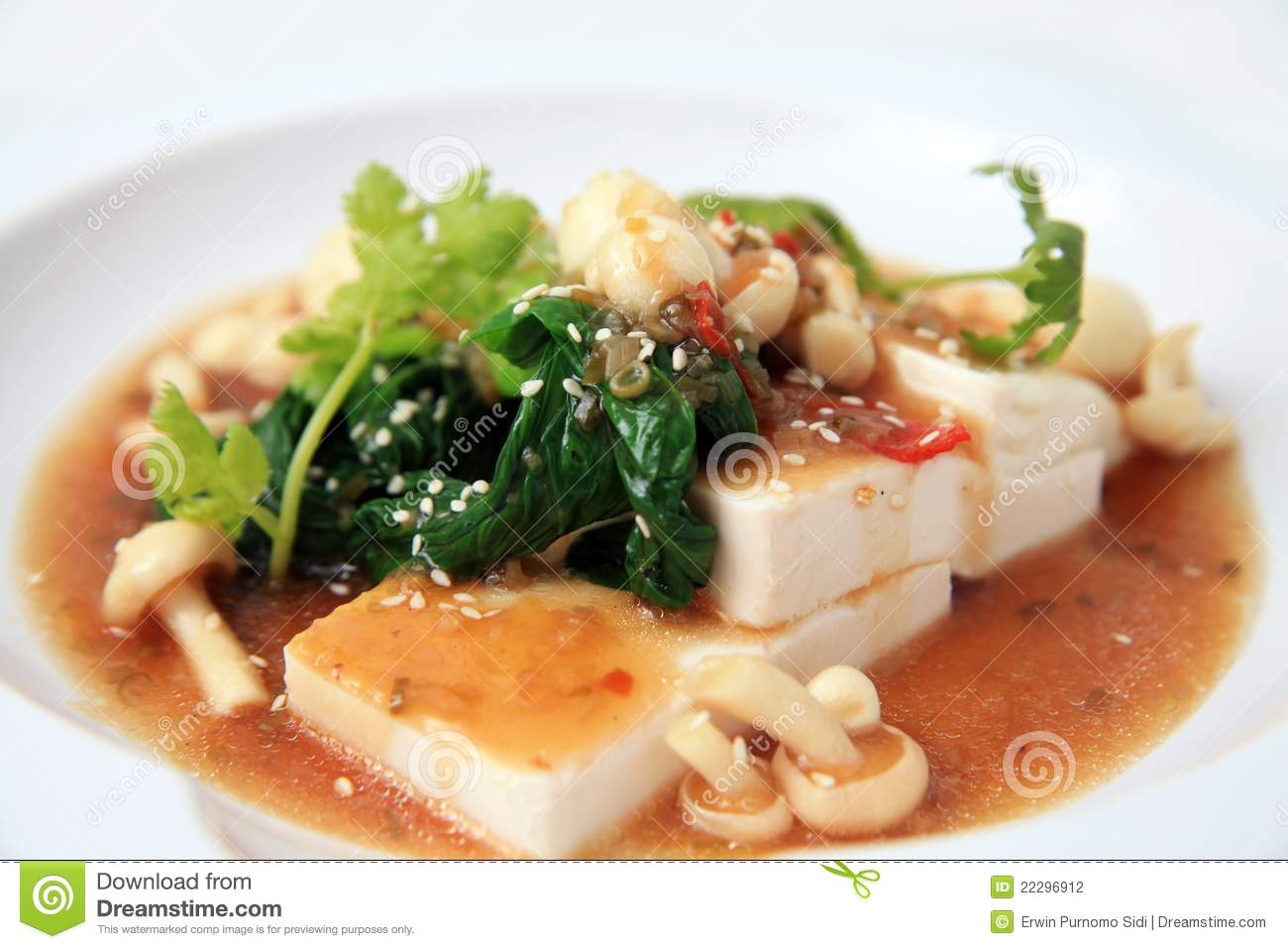 Chinese Tofu With Xo Sauce Stock Photography - Image: 22296912