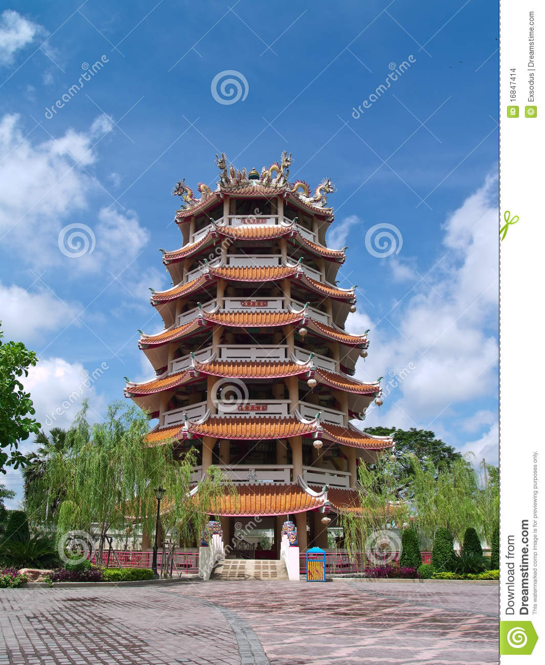 Chinese Tower Stock Images Image 16847414