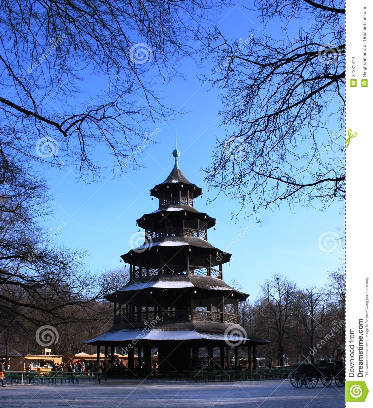 chinese tower in english garden at munich royalty free stock images image 22281379. Black Bedroom Furniture Sets. Home Design Ideas