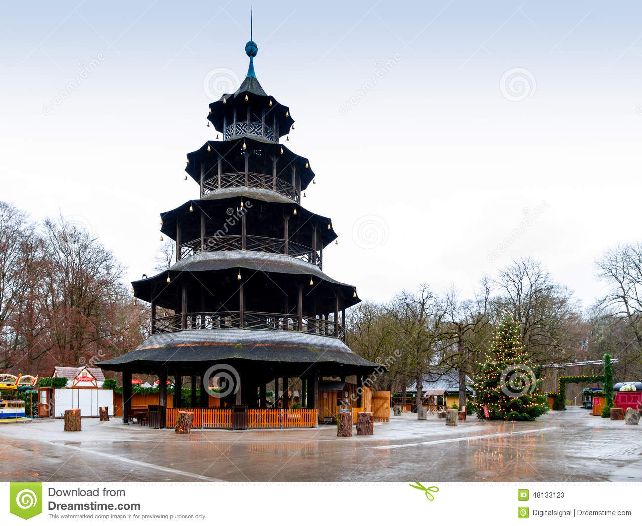 the chinese tower in munich germany stock image image of feast china 48133123. Black Bedroom Furniture Sets. Home Design Ideas