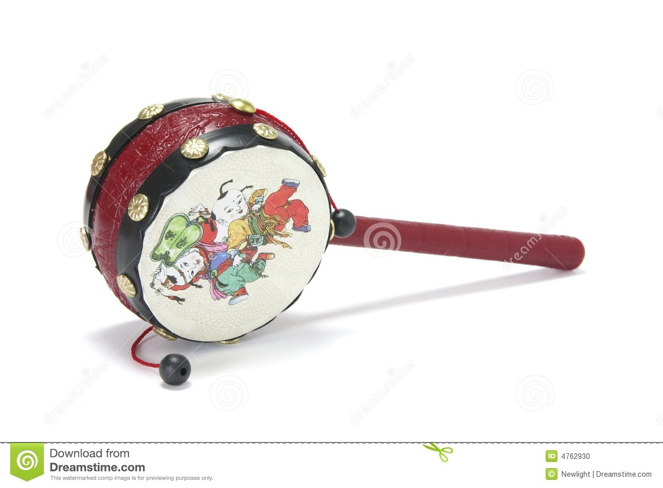 Chinese Toy Drum Stock Photo - Image: 4762930