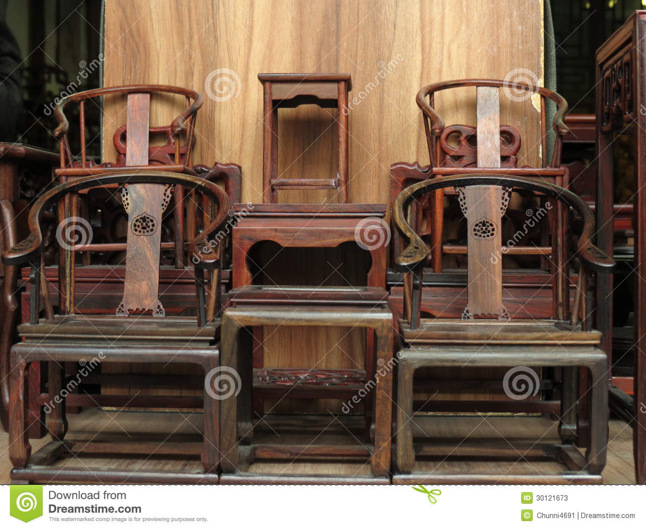Chinese Traditional Antique Furnitures Stock s