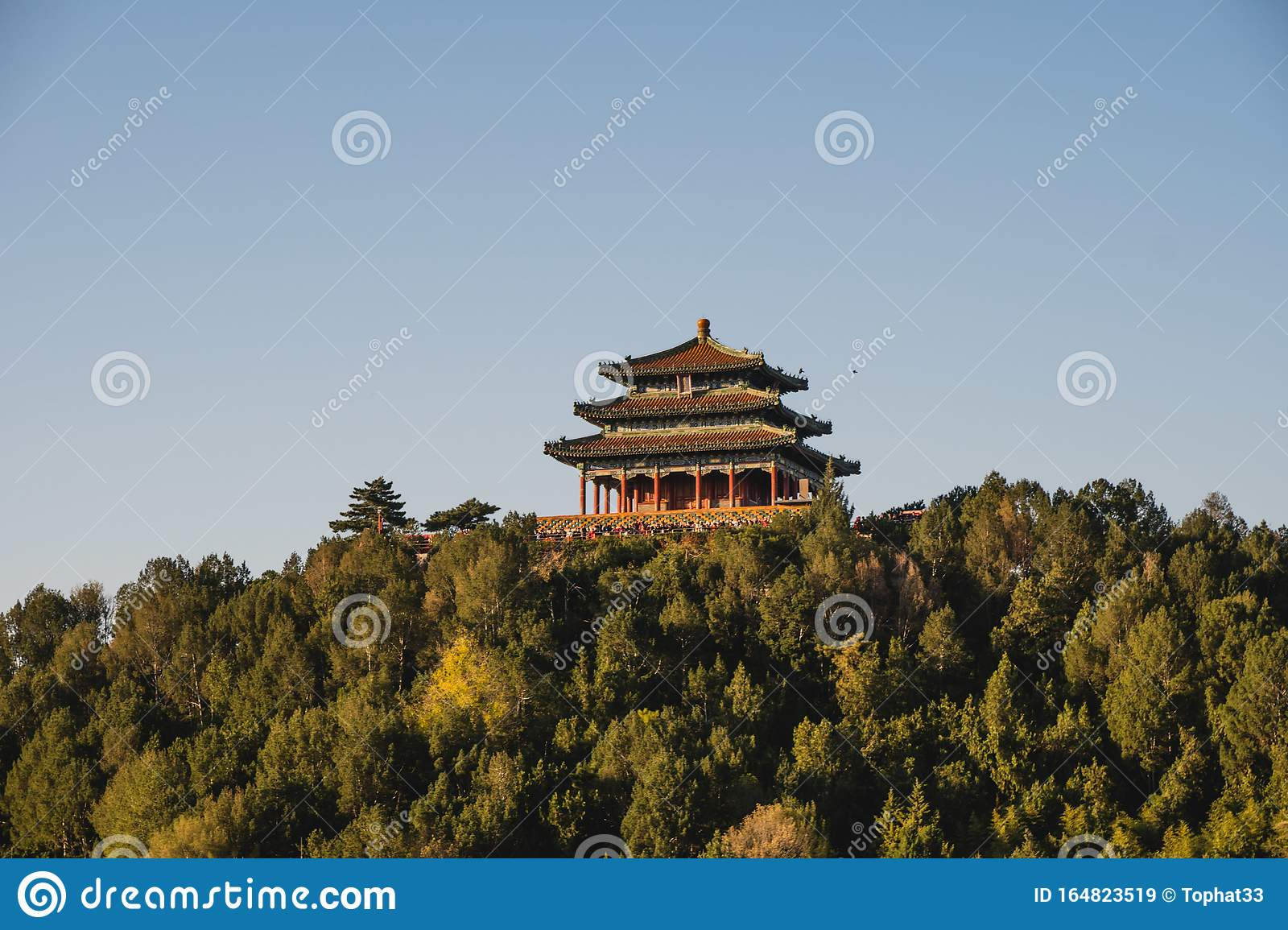Chinese Traditional Architecture Chinese Roof Top Design In Beijing Stock Image Image Of Ceiling Culture 164823519