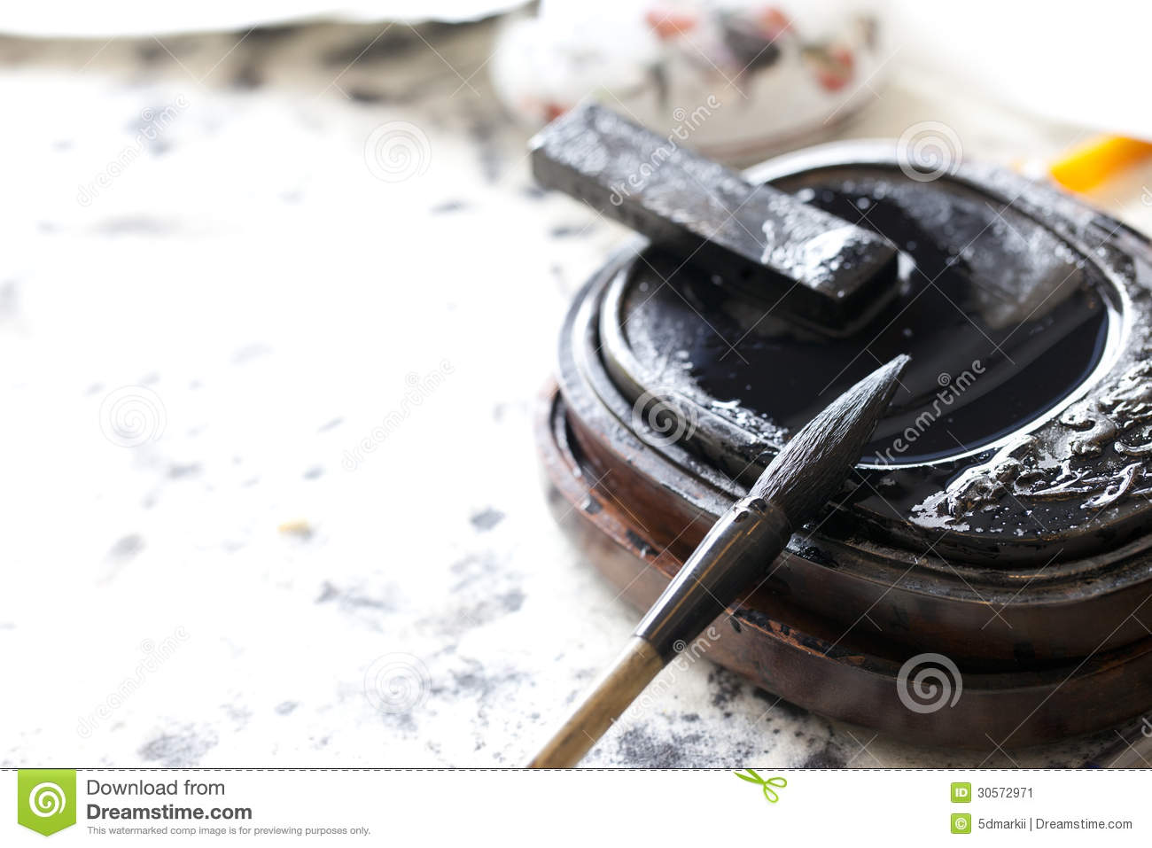Chinese Traditional Brush Pen And Ink Stock Image Image