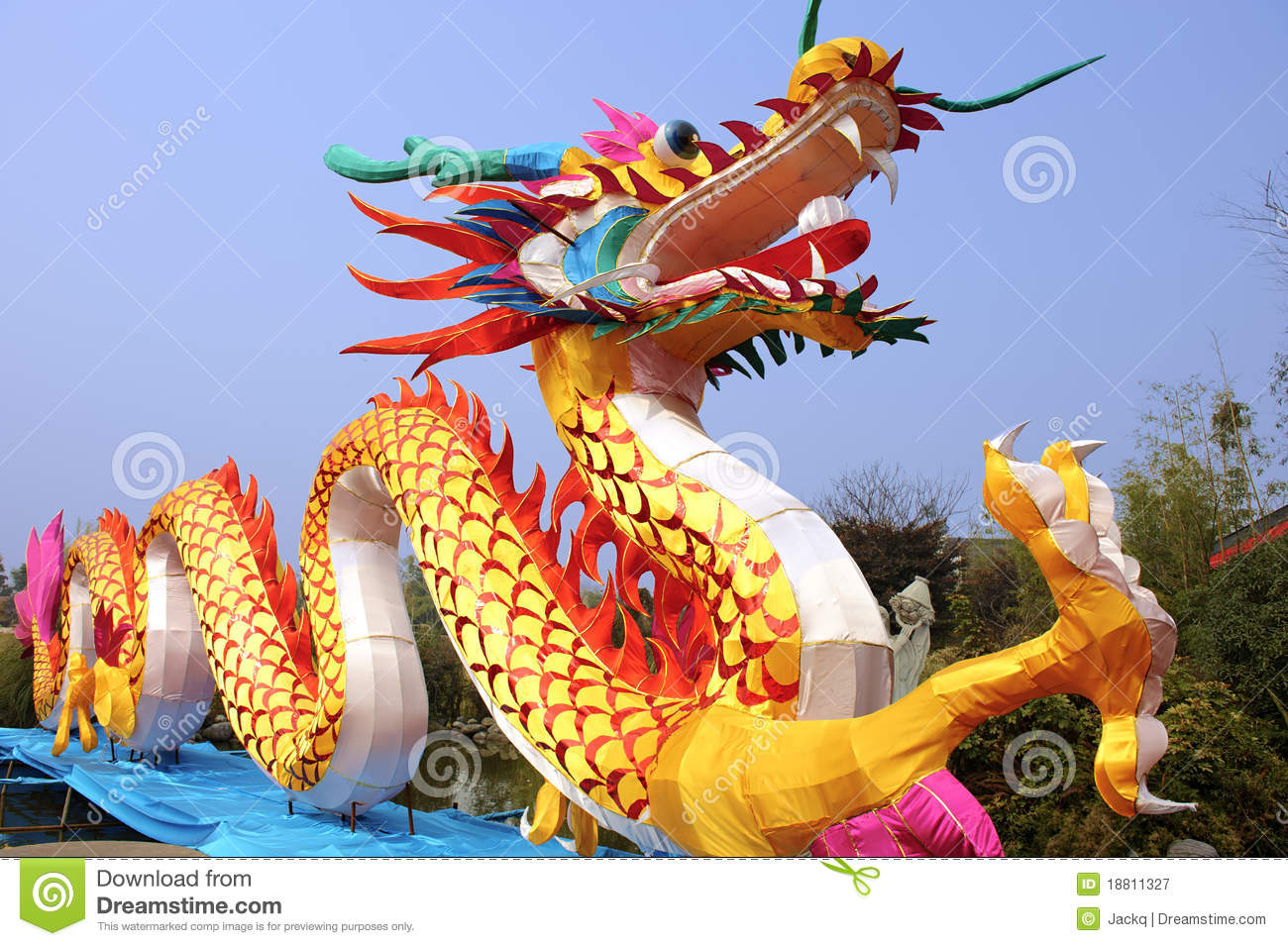 Chinese Traditional Colorful Dragon Lantern Royalty Free ...