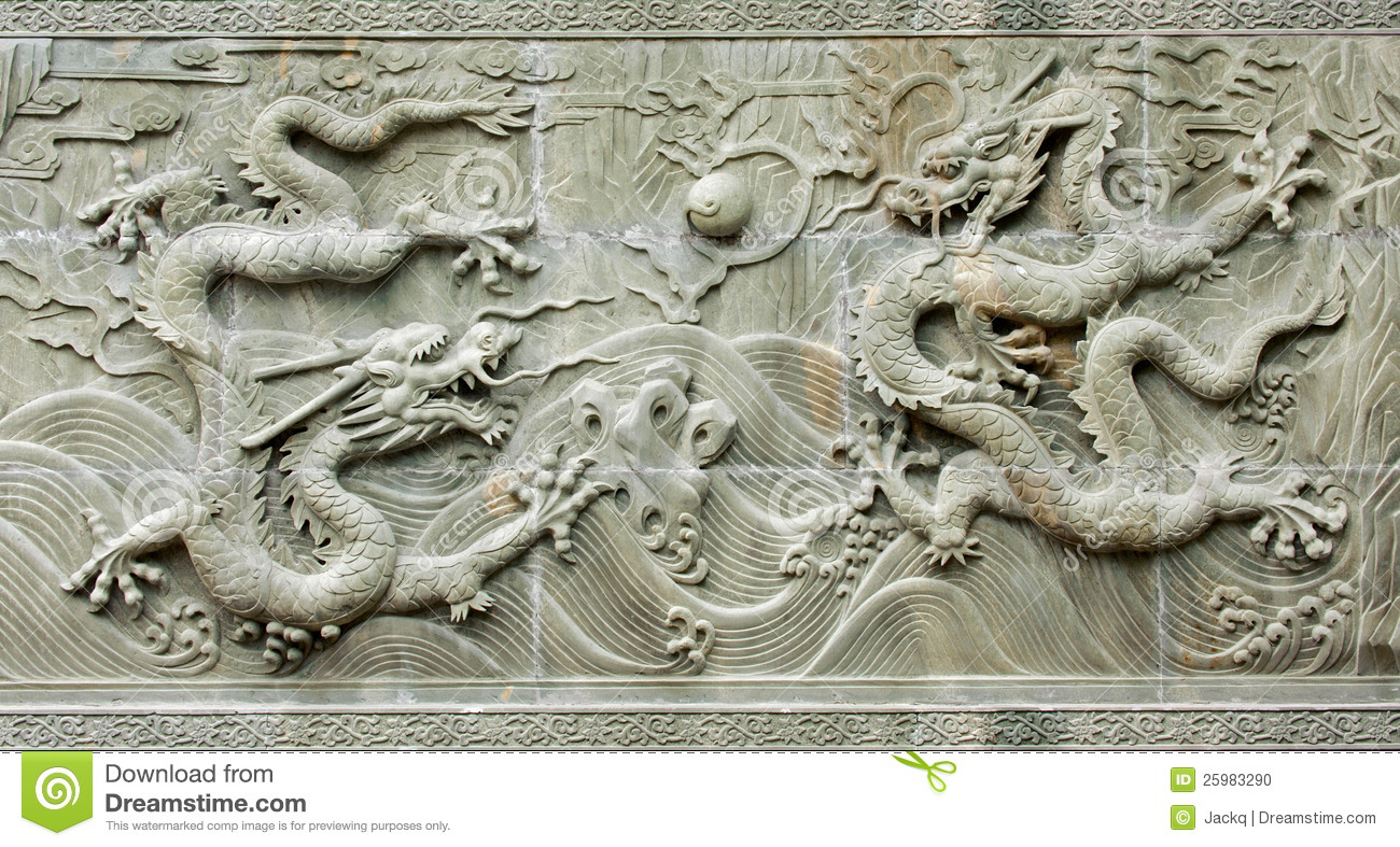 chinese dragon relief pattern stock photo image of background
