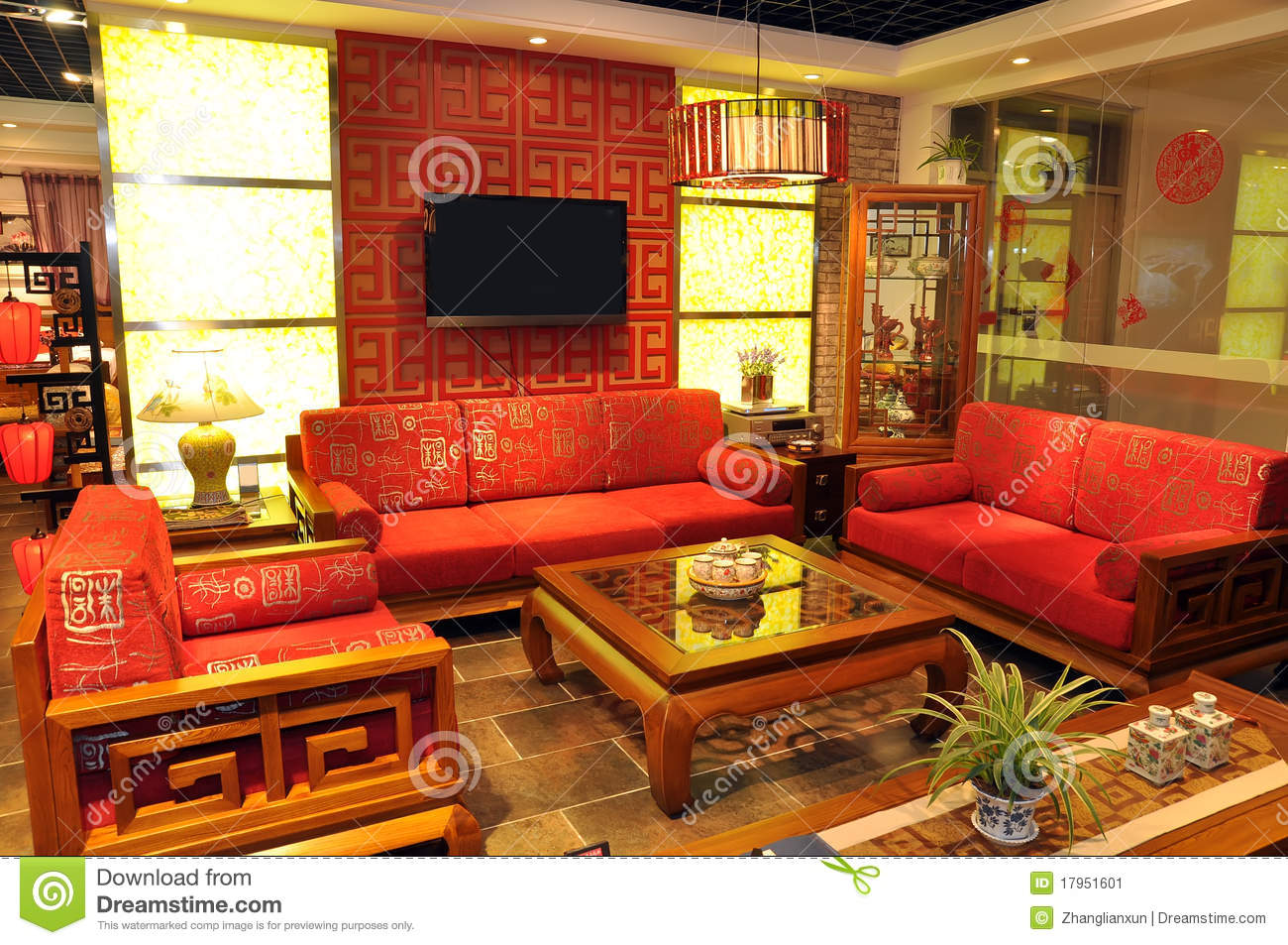 Chinese Traditional Furniture Stock Image - Image: 17951601