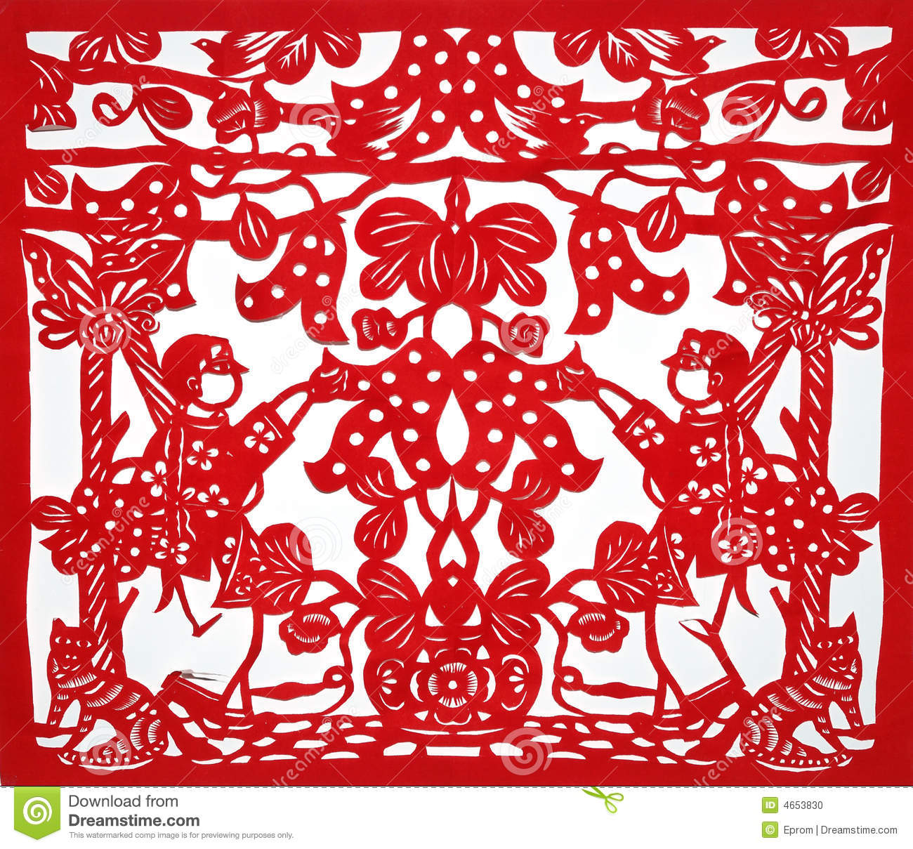 Chinese traditional kirigami stock photo image 4653830 for Kirigami paper art