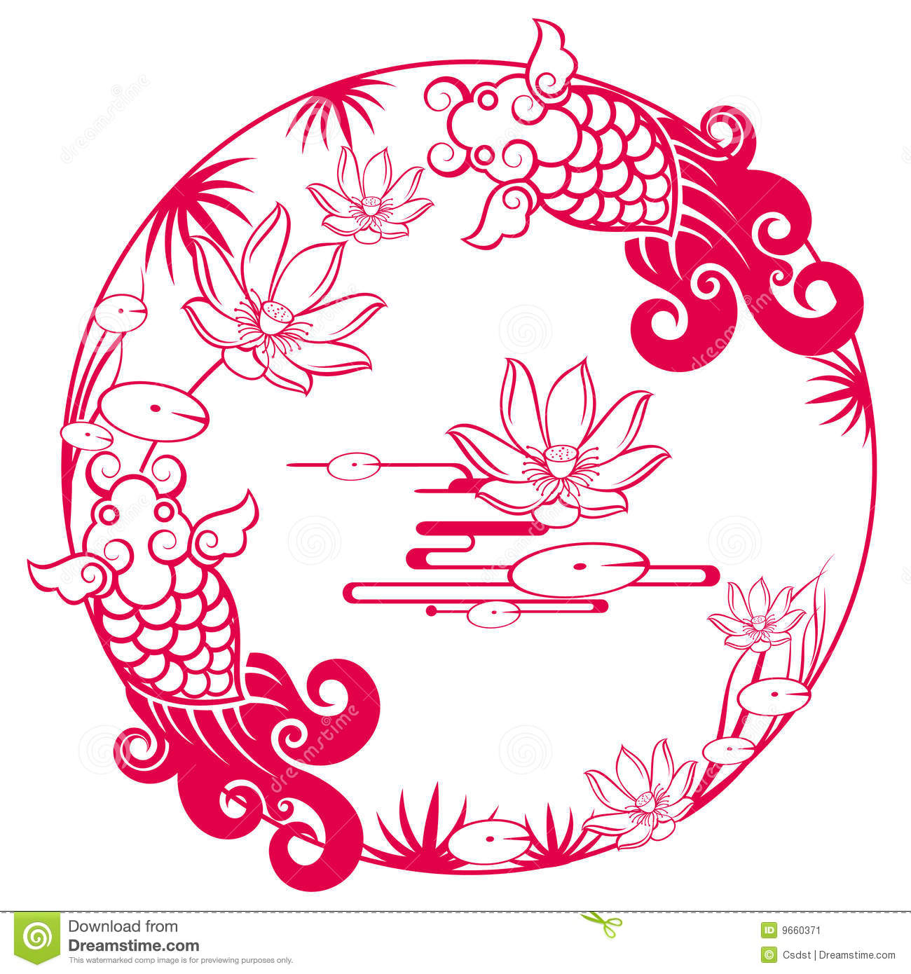 Chinese Traditional Lucky Pattern Stock Vector - Image ...