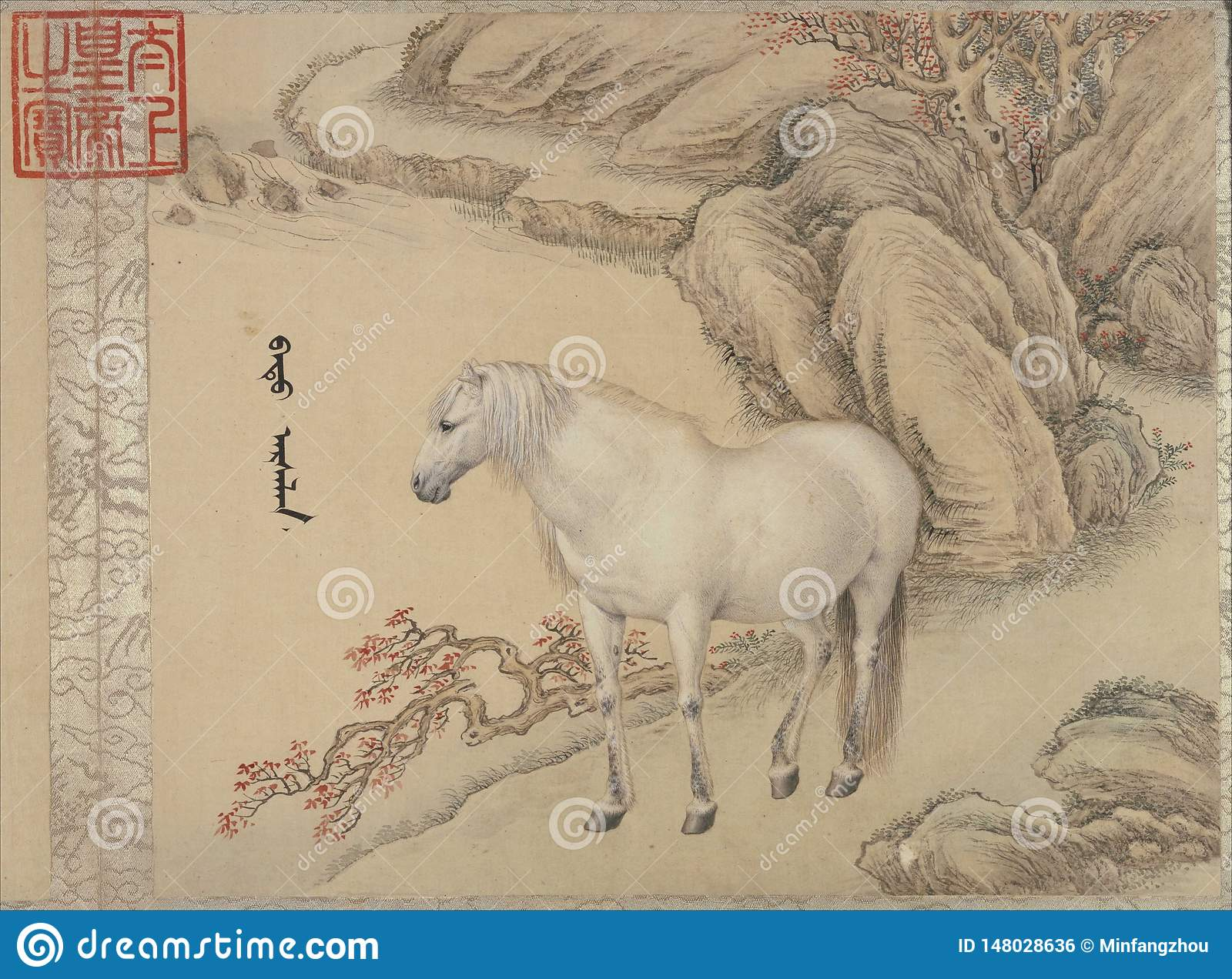 Chinese Traditional Painting Animal Editorial Photo Image Of Chinese Horses 148028636