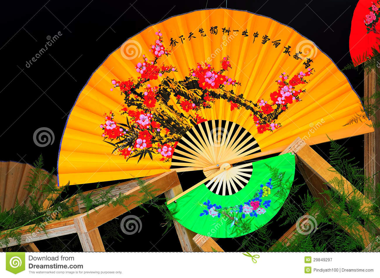 background chinese fans - Decorative Fans